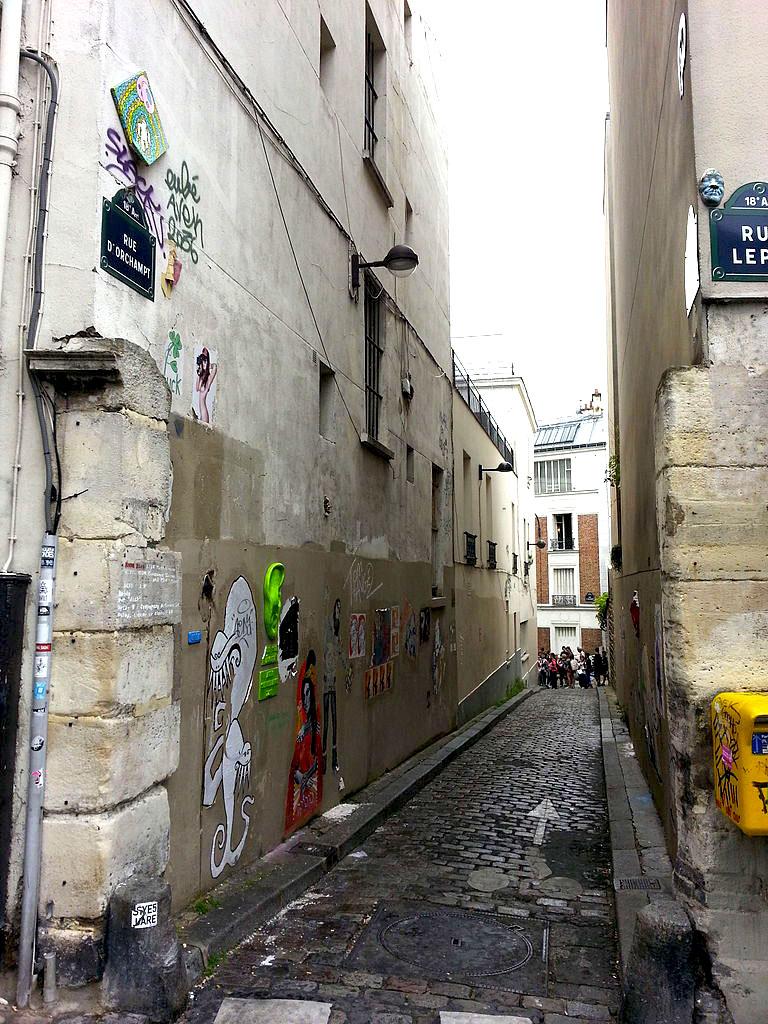 La rue d'Orchampt